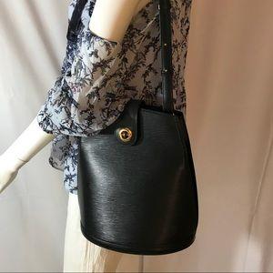 Authentic Louis Vuitton Epi Noir shoulder bag